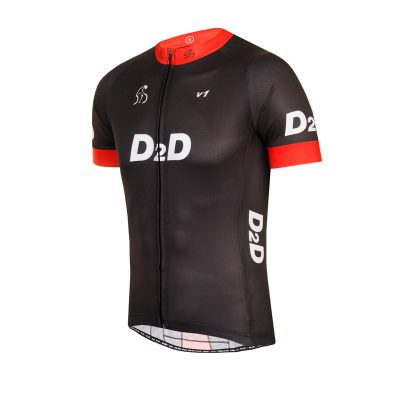 Men's Short Sleeve Cycling Jersey - V1 Red