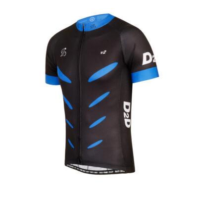 Men's Short Sleeve Cycling Jersey - V2 Blue