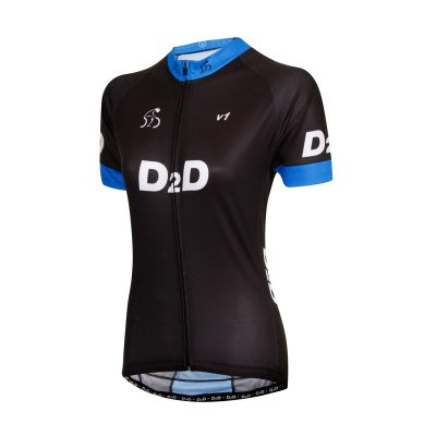 Ladies Short Sleeve Cycling Jersey - V1 Blue