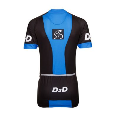 Ladies Short Sleeve Cycling Jersey - V1 Blue - Back