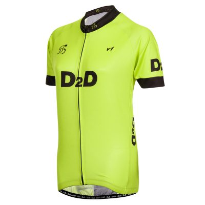 Ladies Short Sleeve Cycling Jersey - V1 Fluro