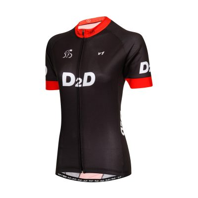 Ladies Short Sleeve Cycling Jersey - V1 Red