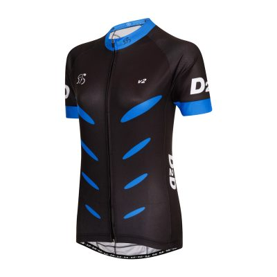 D2D Ladies Jersey V2 Blue Angle