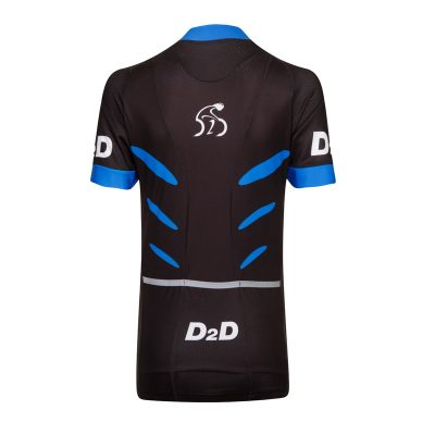 D2D Ladies Jersey V2 Blue Back