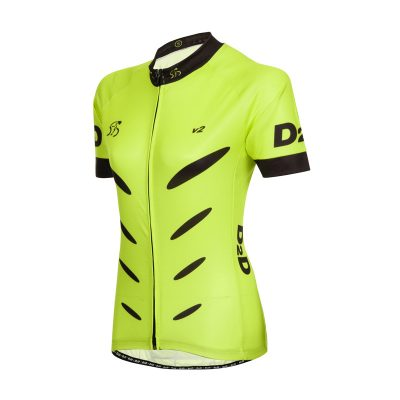 D2D Ladies Jersey V2 Fluro Angle