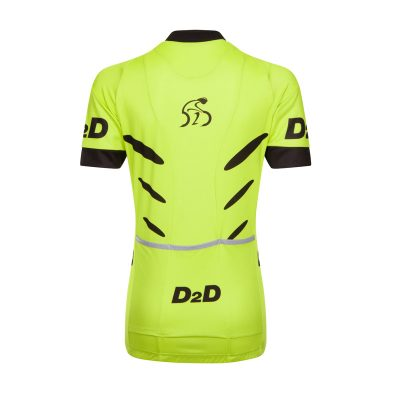 D2D Ladies Jersey V2 Fluro Back