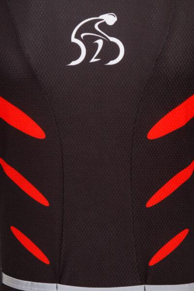 D2D Ladies Jersey V2 Red Detail
