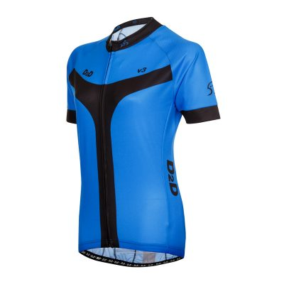D2D Ladies Jersey V3 Blue Angle