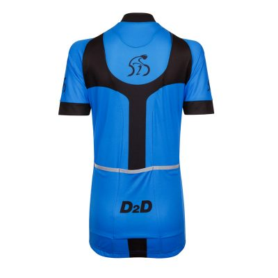 D2D Ladies Jersey V3 Blue Back