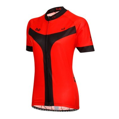 D2D Ladies Jersey V3 Red Angle