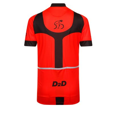 D2D Ladies Jersey V3 Red Back