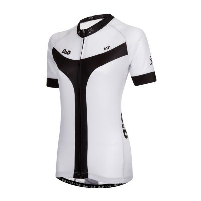 D2D Ladies Jersey V3 White Angle