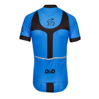 D2D Mens Jersey V3 Blue Back