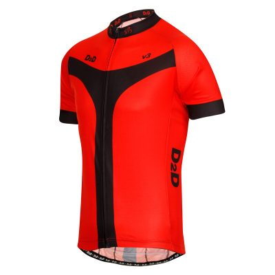D2D Mens Jersey V3 Red Angle