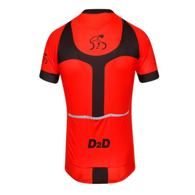 D2D Mens Jersey V3 Red Back