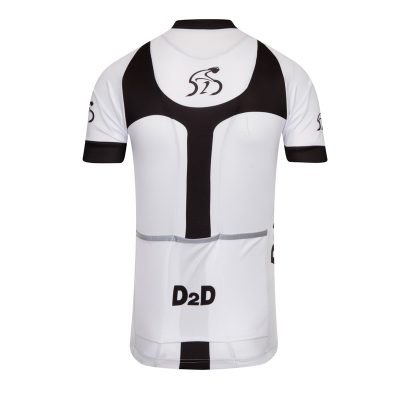 D2D Mens Jersey V3 White Back