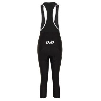 D2D Ladies 3/4 Bib Tights - Back