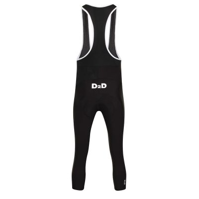 D2D Mens Classic Three Quarter Bib Tights Back