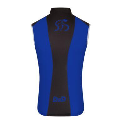 Men's Windskin Gilet in Blue & Black - Back