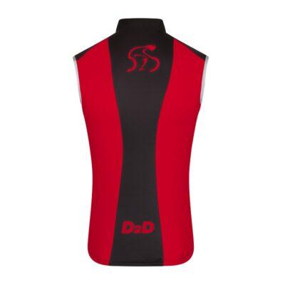 Men's Windskin Gilet in Red & Black - Back
