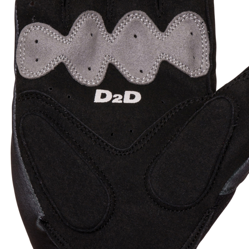 Red D2D Second Skin Aero Fingerless Cycling Gloves Blue and Fluoro Black