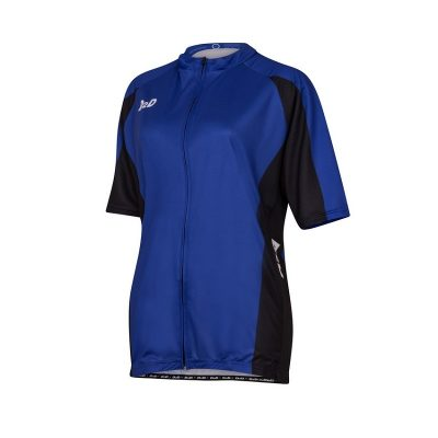 p1s blue women's plus size cycling jersey front