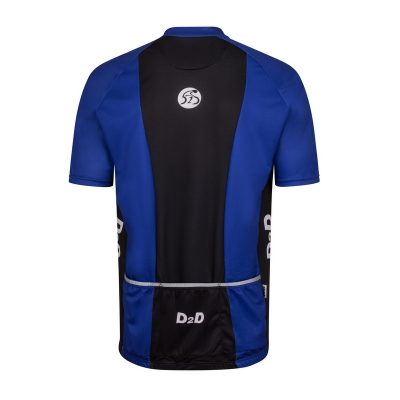 p1s blue mens plus size cycling jersey rear
