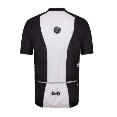 p1s white mens plus size cycling jersey rear