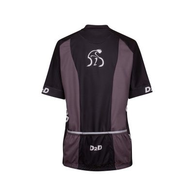 p2r grey ladies plus size cycling jersey rear