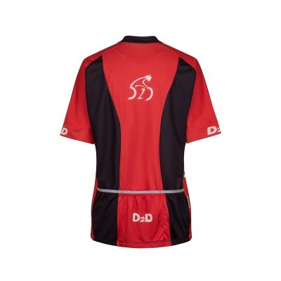 p2r red ladies plus size cycling jersey rear