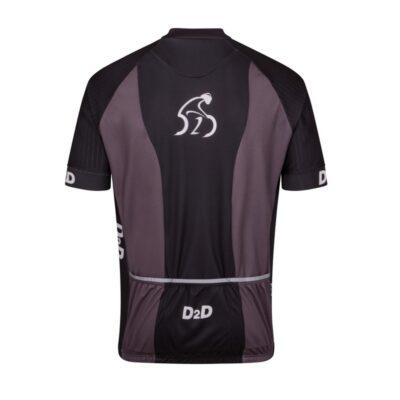 p2r grey men's plus size cycling jersey rear