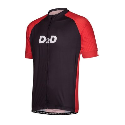 p2r red men's plus size cycling jersey front