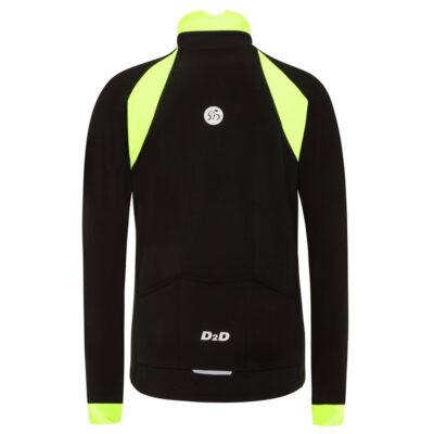 ladies plus size roubaix cycling jersey fluoro back