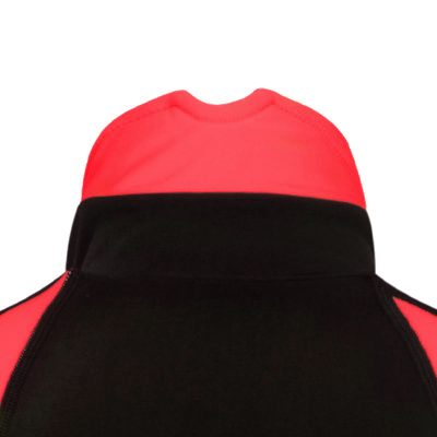roubaix cycling jersey red collar