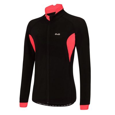 ladies roubaix cycling jersey red front