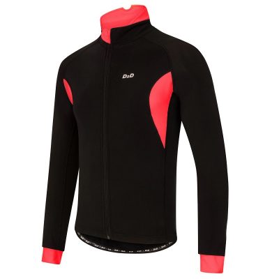 mens roubaix cycling jersey red front