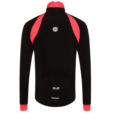 mens roubaix cycling jersey red back