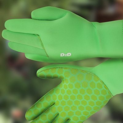 hi vis neoprene cycling gloves