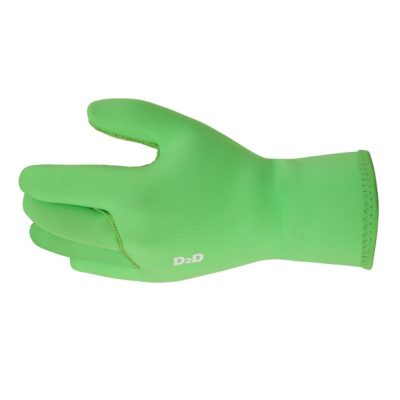 hi-vis neoprene cycling gloves