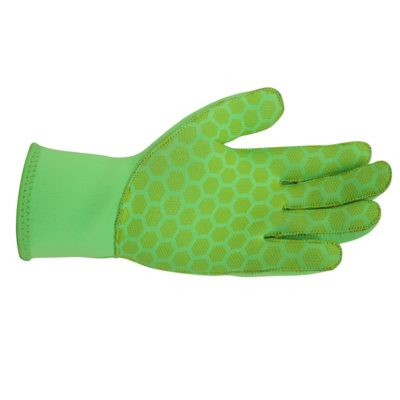 hi-viz neoprene cycling gloves